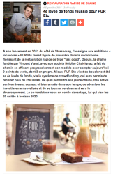Article France Snacking - 6 septembre 2016